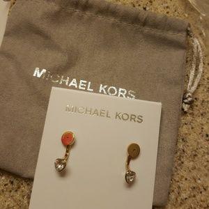 Michael Kors Gold Jacket Earrings